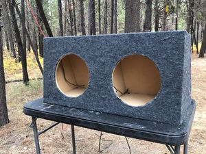 """Subwoofer box for two 12"""" subwoofers for Sale in Bend, OR"""