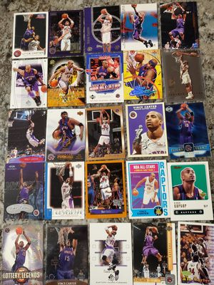 Lot of 25 VINCE CARTER rc & cards all for $20 for Sale in Clovis, CA