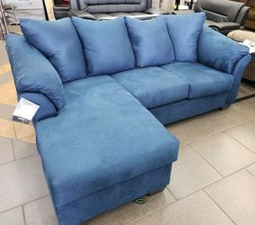 🍒$39 Down 🍒 Best OFFER. SPECIAL] Darcy Blue Sofa Chaise byAshley for Sale in Laurel,  MD
