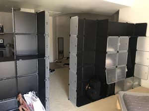 20-cube storage organizer/ wardrobe rack/privacy screen/wall (2 sets) for Sale in San Diego, CA