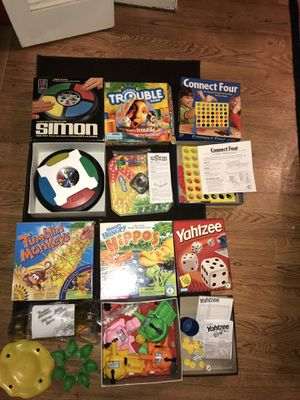 BOARD GAME ASSORTMENT (6 games) for Sale in Joliet, IL