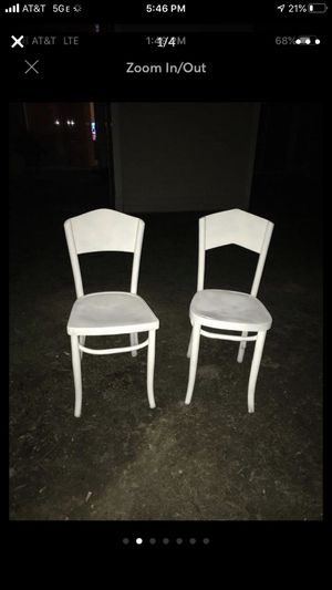 Two wooden white chairs for Sale in Alexandria, VA
