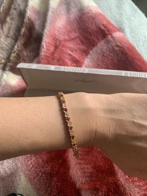 24KT gold over sterling silver bracelet for Sale in Annandale, VA