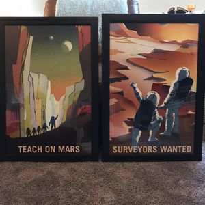 Vintage Space Mars picture frames $40 for both. for Sale in Mount Prospect, IL
