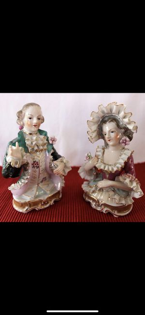 Porcelain Figurine Busts Antique Vintage Bone China Lace Victorian Style for Sale in Long Beach, CA