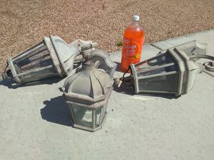 Exterior / Outdoor Wall Mount Lights - set of 3 for Sale in Yuma, AZ