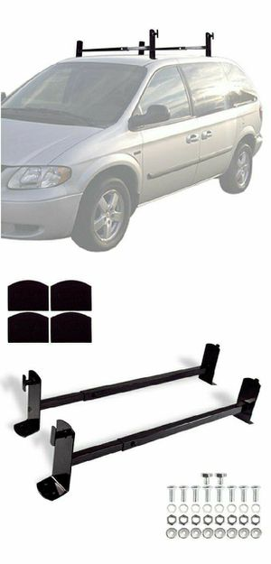 New in box Universal roof mount van ladder cross bar rack adjustable 2 bars include hardware and screws for Sale in Whittier, CA