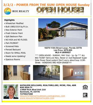 OPEN HOUSE today May 31 / 1p to 3p for Sale in Largo, FL