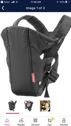 Black infantino baby carrier for Sale in Grand Prairie, TX
