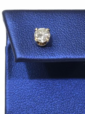 14K Yellow Gold Unisex Single Stud Earring with approx 0.45ct Diamond $449.99 **Great Buy** for Sale in Tampa, FL