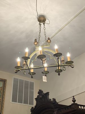 Gorgeous heavy wrought iron French chandelier for Sale in Huntingdon Valley, PA