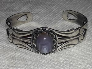 Vintage Girl Scout Sterling silver & gem stone cuff bracelet for Sale in Corvallis, OR