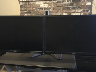 Dual 22inch Acer led Monitors for Sale in Fresno,  CA