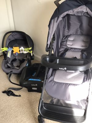 Safety Carseat, Stroller and base. Toy walker, Pampers newborn diapers and a rear facing car seat mirror for Sale in Norfolk, VA