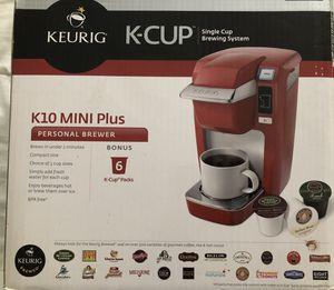 Keurig K-Cup K10 Mini Plus Red for Sale in Murfreesboro, TN