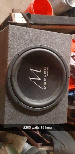 Merlon 15' car audio sub 2200 wats for Sale in Bellmead,  TX