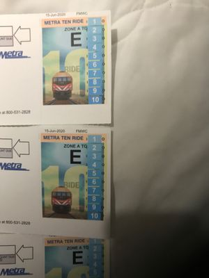Metra 30 Ride Tickets Zones A-E for Sale in Hoffman Estates, IL