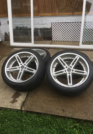 Ruff racing rims and tires 22 off bmw truck for Sale in Pittsburgh, PA