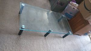Glass coffee table also can be used outside for plants for Sale in Stockton, CA