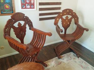Antique scissor chairs make offer for Sale in Brownsburg, IN