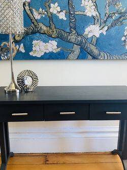 Desk/console -charcoal for Sale in Shrewsbury,  NJ