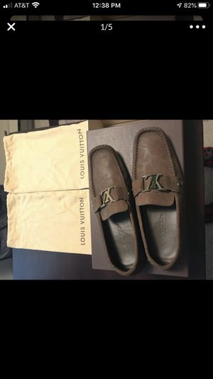 Louis Vuitton Men's 9 Brown new buck leather LV loafers for Sale in Seattle, WA