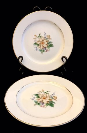 """Noritake Goldenrose two 7"""" Salad Plates for Sale in Ransom Canyon, TX"""