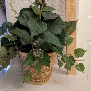 Small Fake Plant In Basket for Sale in Gilbert, AZ
