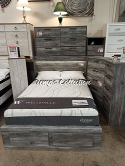 Queen Storage Bed Frame, Grey, SKU# ASHB221-QTC for Sale in Santa Fe Springs,  CA
