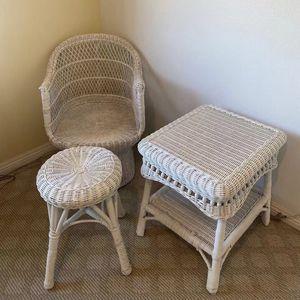Outdoor White Wicker Patio Furniture for Sale in Ontario, CA