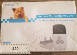 Remote pet training collar for Sale in Buckhannon, WV