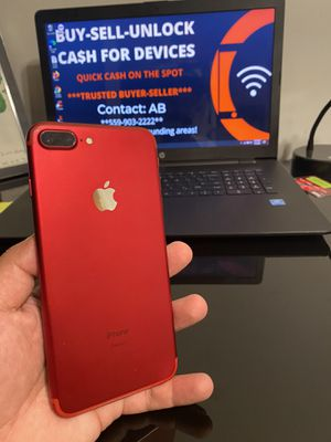 iPhone 7 Plus 128gb Product Red Factory Unlocked for Sale in Selma, CA