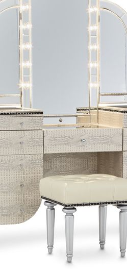 Hollywood Swank Collection Vanity Plus Mirror By Michael Amini *Read Description* for Sale in Seattle,  WA
