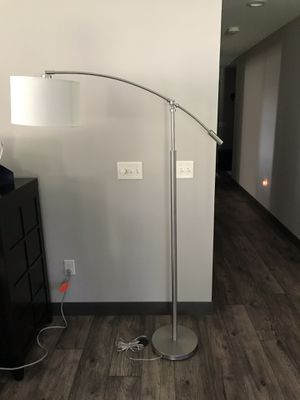 Quoizel Clift Brushed Nickel Adjustable Arc Floor Lamp for Sale in Eau Claire, WI