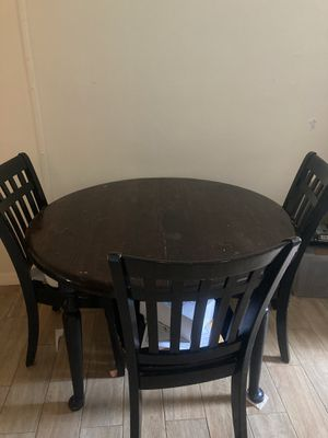 Solid wood table and chairs (leaf not included in picture) for Sale in Cape Coral, FL