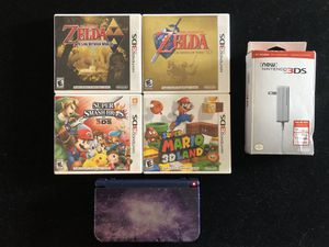 New Nintendo 3DS XL Galaxy Style + 4 Games Smash Bros Zelda Super Mario 3D Land for Sale in Atlanta, GA