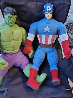 Captain America / Hulk Marvel Large Stuffed Toy for Sale in Ontario, CA
