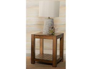 $99 - Rustic Brown Solid Wood End Table for Sale in El Monte, CA