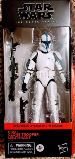 New Star Wars Black Series Phase 1 Clone Trooper Lieutenant Action Figure. for Sale in Apopka, FL