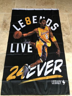 Kobe Bryant Lakers 24 Ever Banner Art for Sale in Clovis, CA