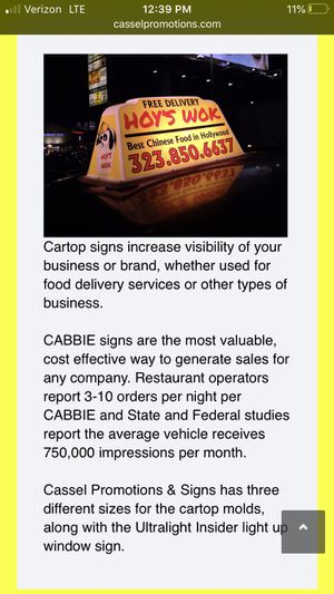 Car Top Delivery Signs for Sale in Kennewick, WA