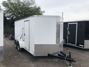 Anvil 7x14LS Enclosed Trailer-White-$4350 for Sale in St. Petersburg, FL