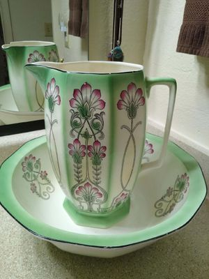 1920 art deco pitcher and bowl for Sale in Phoenix, AZ