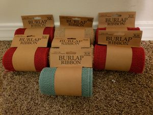 Brand New Crafting Burlap Ribbon for Sale in Destin, FL