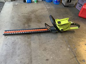 40V RYOBI HEDGE TRIMMER TOOL ONLY for Sale in San Dimas, CA