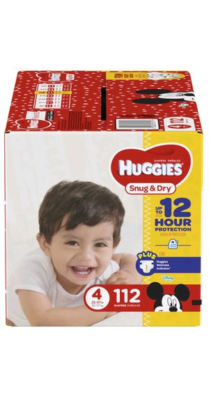 2 boxes of Huggies Size 4 for Sale in Denver, CO