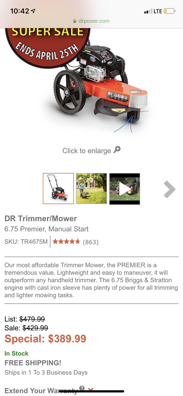 Briggs and Stratton DR trimmer 675 exi series for Sale in Seguin, TX -  OfferUp