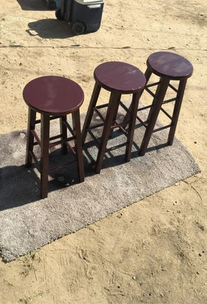 3 bar stools for Sale in Fresno, CA