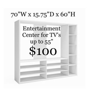 """Entertainment Center for TV's up to 55"""" for Sale in Dallas, TX"""