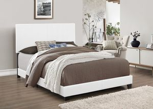 Brand new FULL size white PU (vinyl), box spring required for Sale in City of Industry, CA